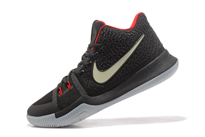 "Nike Kyrie 3 ""Black Red"" Glow in the Dark Mens Basketball Shoes"