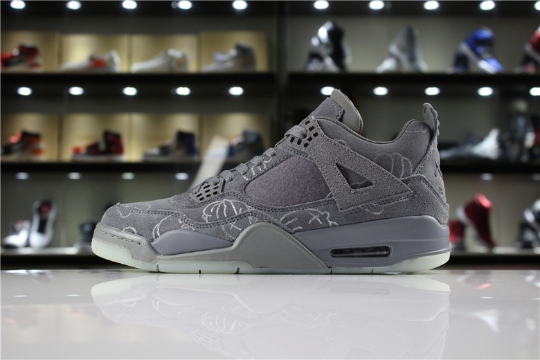 "KAWS x Air Jordan 4 ""Cool Grey"" 930155-003"
