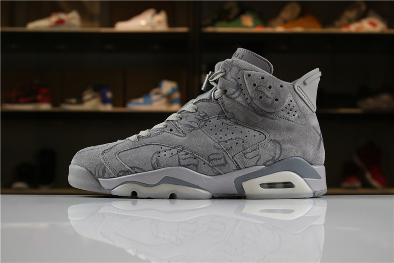 "KAWS x Air Jordan 6 ""DIY"" Personal Tailor Cool Grey"
