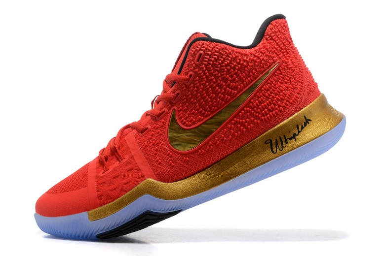 Kyrie Irving Nike Kyrie 3 Red Metallic Gold Black Basketball Shoes