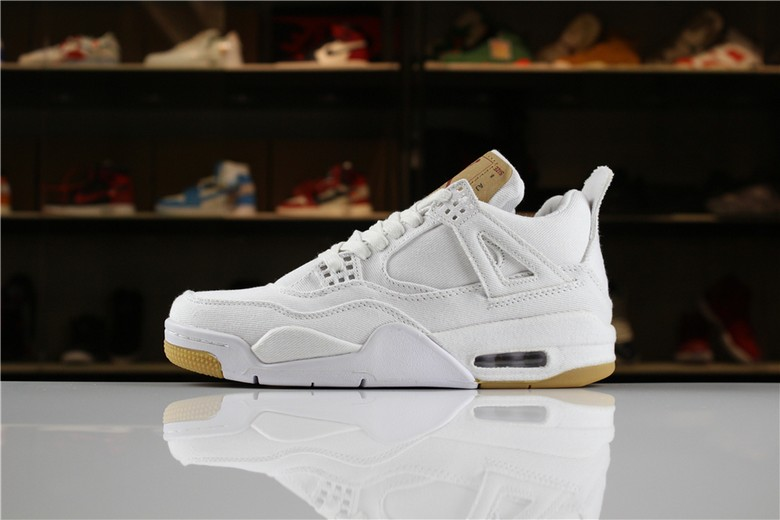"2018 Levi's x Air Jordan 4 ""White Denim"" AO2571-100"