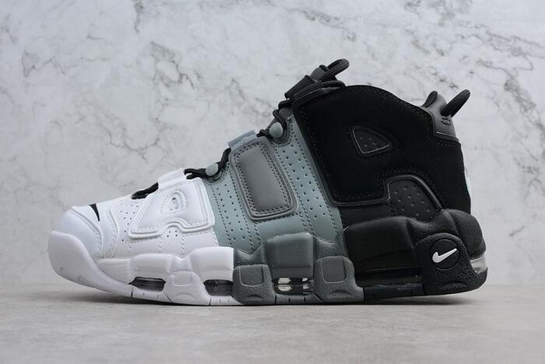 "Nike Air More Uptempo ""Tri-Color"" Black Cool Grey White 921948-002"