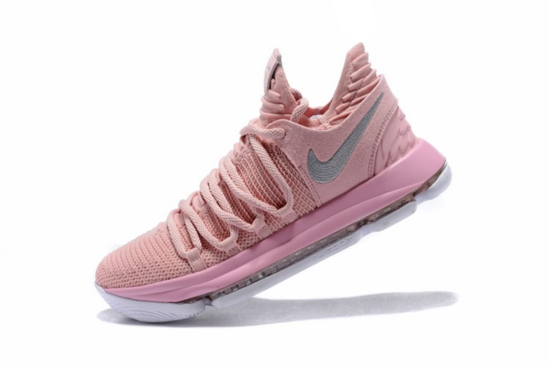 "Mens Nike KD 10 ""Aunt Pearl"" Pearl Pink White Sail AQ4110-600 Basketball Shoes"