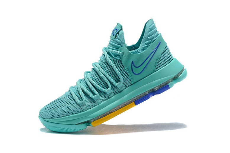 "Mens Nike KD 10 ""City Edition 2"" Hyper Turquoise Racer Blue 897816-300 Shoes"