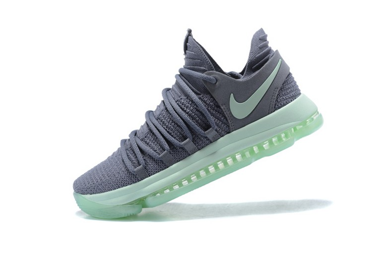 "Mens Nike KD 10 ""Igloo"" Cool Grey Igloo White 897816-002 Basketball Shoes"