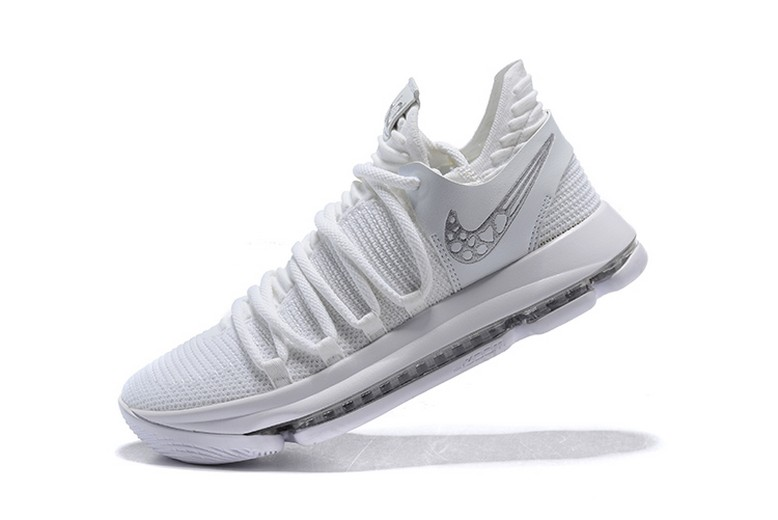 Mens Nike KD 10 Platinum Tint Vast Grey White 897816-009 Basketball Shoes