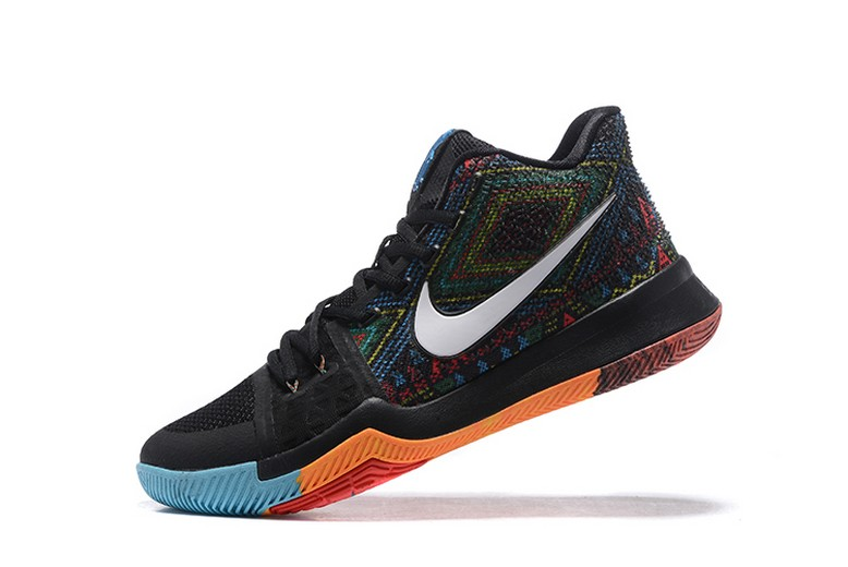 "Mens Nike Kyrie Irving 3 (III) ""BHM"" Multi-Color Basketball Shoes"