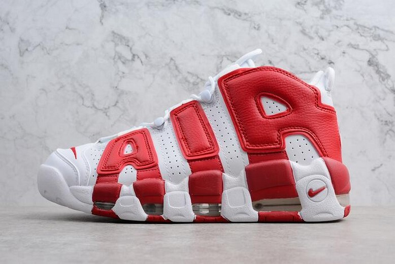 Nike Air More Uptempo White Gym Red 414962-100