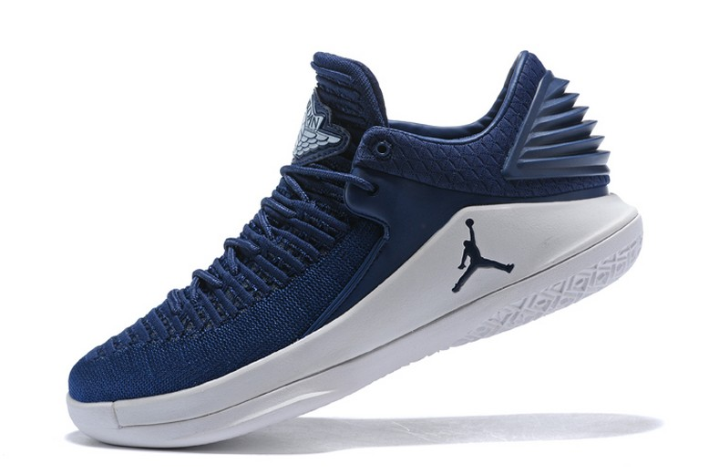 New Air Jordan 32 Low Midnight Navy White Mens Basketball Shoes