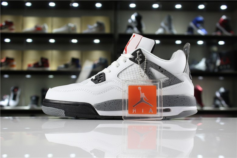 "Air Jordan 4 ""89 OG ""White Cement"" White Fire Red Black Tech Grey 840606-192"