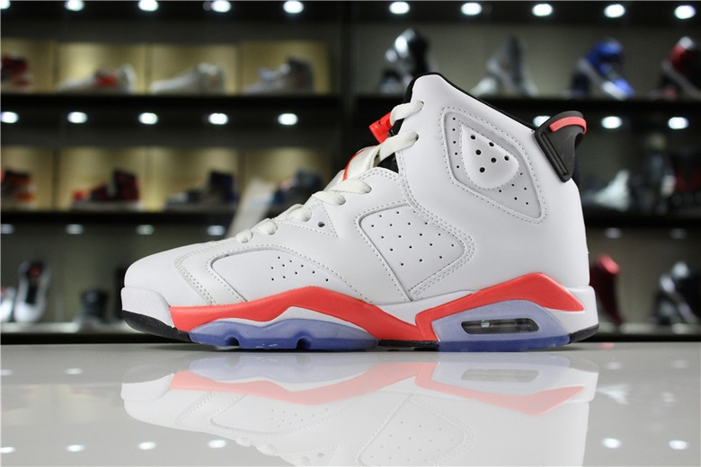 "Air Jordan 6 Retro ""White Infrared"" White InfraRed Black 384664-123"