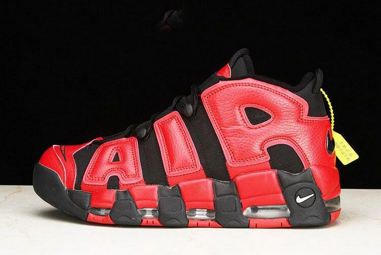 Nike Air More Uptempo QS Red Black 819151-001 Basketball Shoes