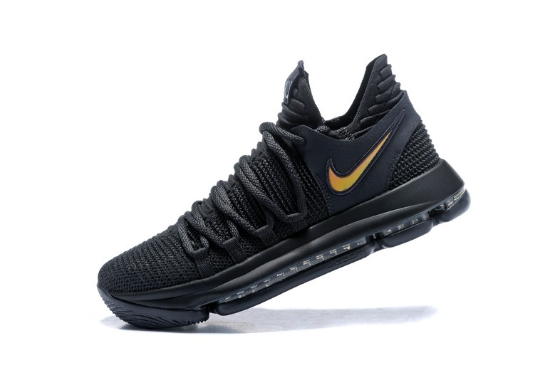"Nike KD 10 ""PK80"" Black Metallic Gold Mens Basketball Shoes"