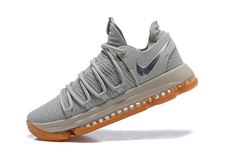 Nike KD 10 Pale Grey Light Bone Gum 897817-001 Mens Basketball Shoes