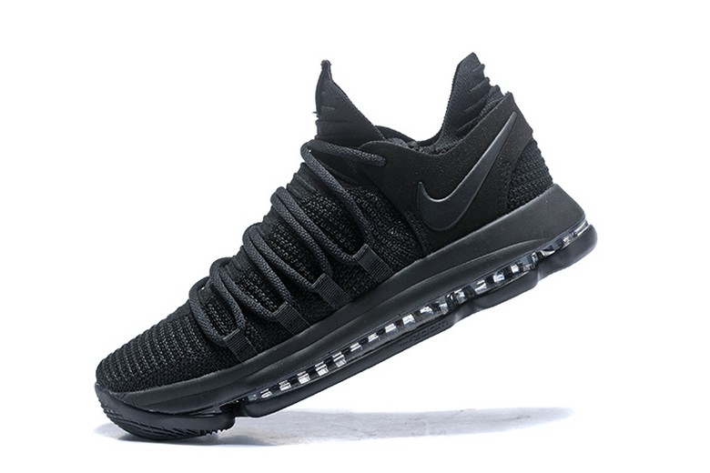 "Nike KD 10 (X) ""Triple Black"" 897816-004 Mens Basketball Shoes"