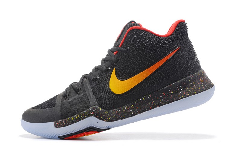 New Nike Kyrie 3 Black Red Gold Mens Basketball Shoes