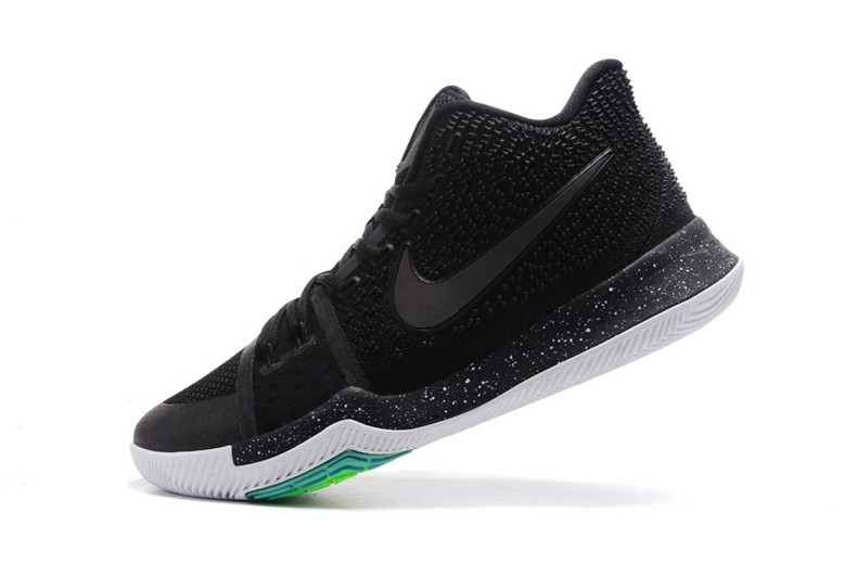 Nike Kyrie 3 Black Total Crimson Dark Grey White Mens Basketball Shoes