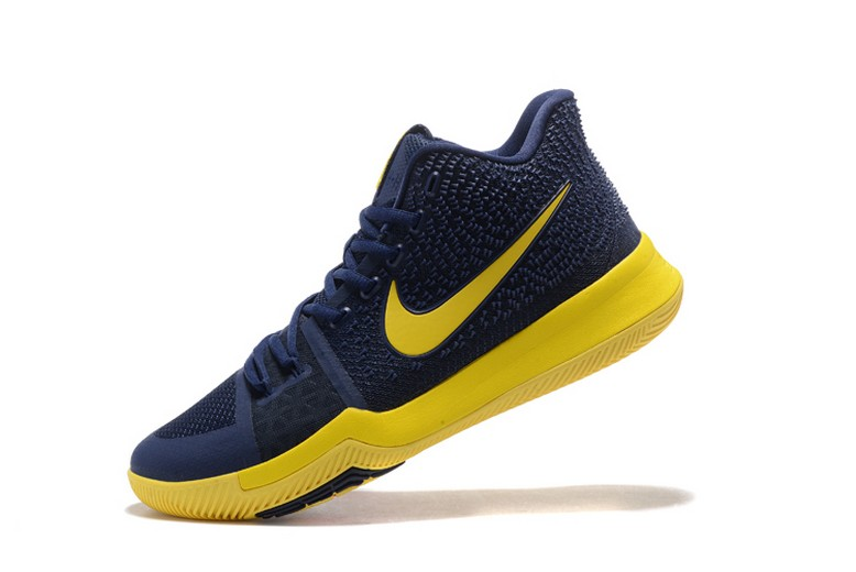 "Nike Kyrie 3 ""Cavs"" Dark Obsidian Yellow Mens Basketball Shoes"