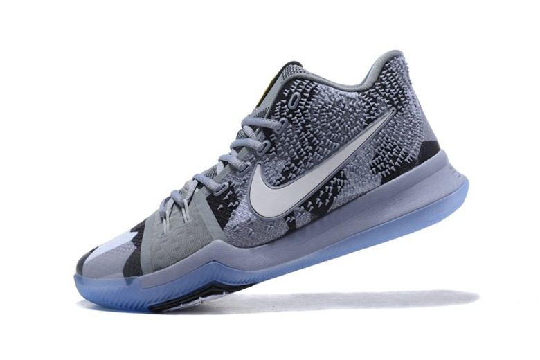 "Mens Nike Kyrie 3 ""Girls EYBL"" Cool Grey Sail Black Basketball Shoes"