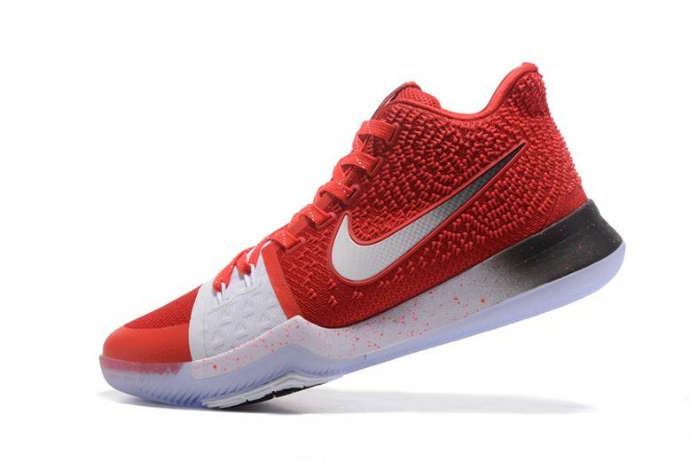 Nike Kyrie 3 Red White Black PE Mens Basketball Shoes