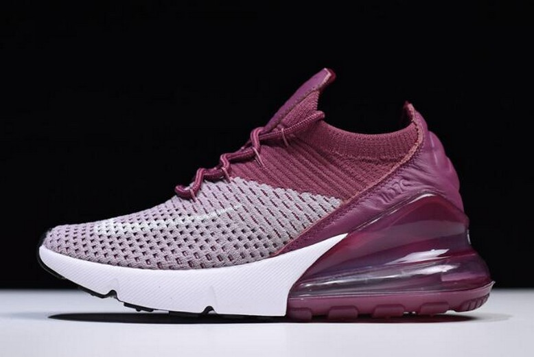 Nike Wmns Air Max 270 Plum Fog White Vintage Wine Total Crimson AO1023-500 Shoes
