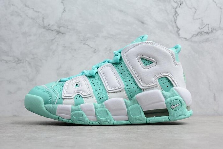 "WMNS Nike Air More Uptempo GS ""Island Green"" 415082-300"