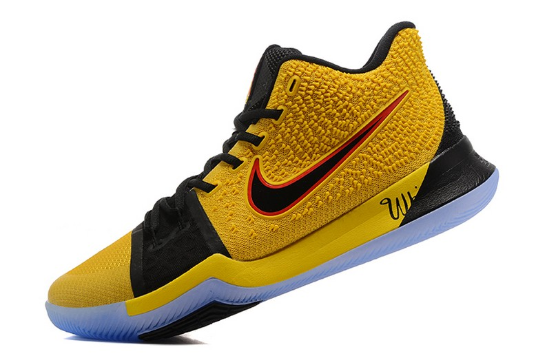 What The Nike Kyrie 3 Yellow and Black Mens Basketball Shoes