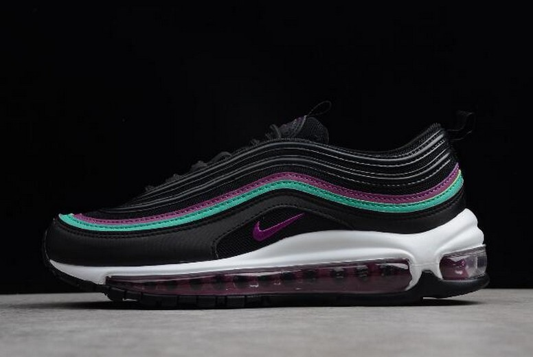 "WMNS Nike Air Max 97 ""Black Grape"" Black Bright Grape Clear Emerald 921733-008 Shoes"