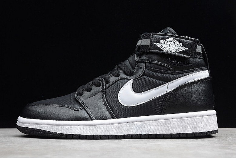 "Air Jordan 1 (I) Retro High Strap ""3M"" Black Dark Grey White 342132-003 Shoes"