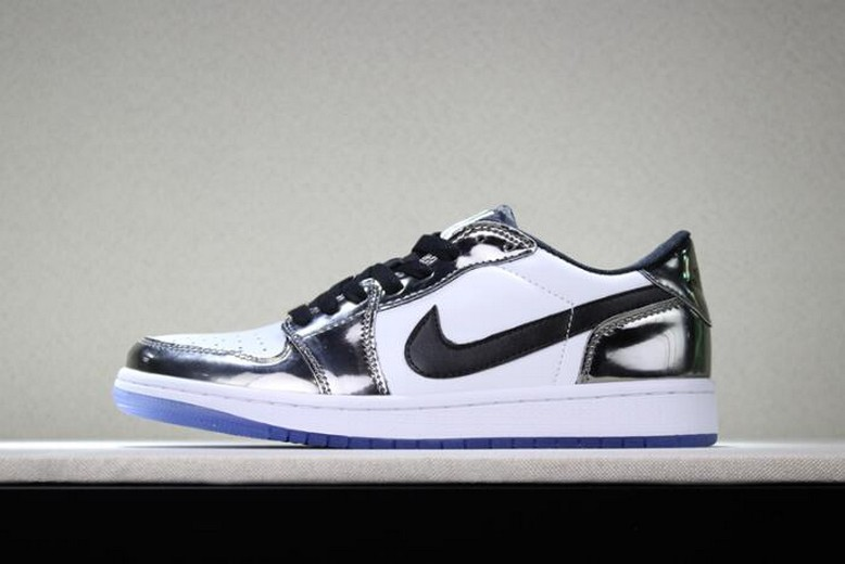 "Air Jordan 1 Low ""Pass The Torch"" Chrome White Turbo Green Black Shoes"