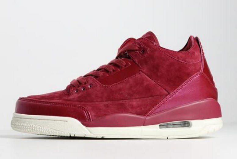 WMNS Air Jordan 3 (III) Retro SE Bordeaux Sail AH7859-600 Girls Shoes