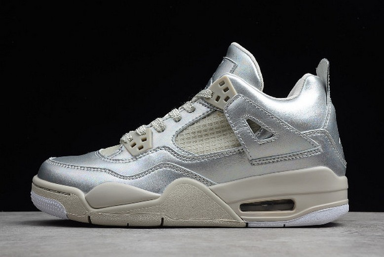 2019 Womens Air Jordan 4 (IV) GS Retro 30th Anniversary Pearl 742639-045 Shoes