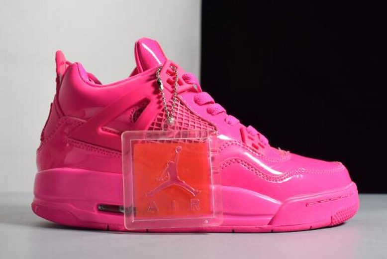 Air Jordan 4 (IV) Retro GS 11Lab4 Pink Patent Girls Leather Shoes