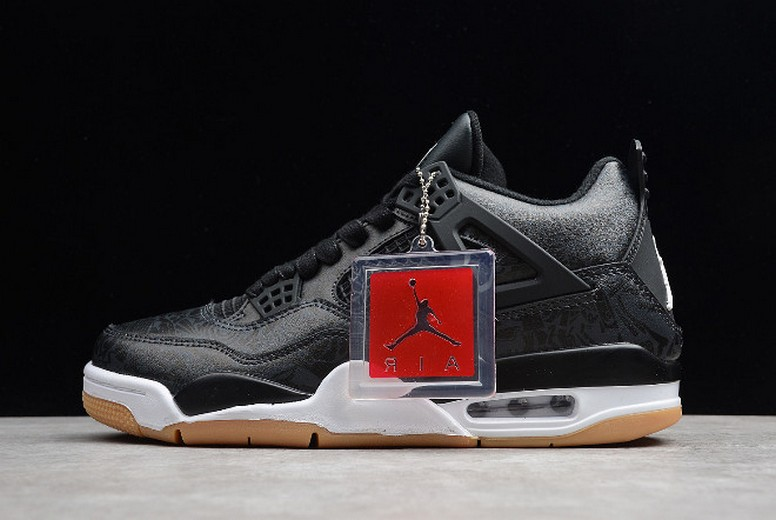 2019 Air Jordan 4 (IV) Retro Laser Black Gum CI1184-001 Shoes