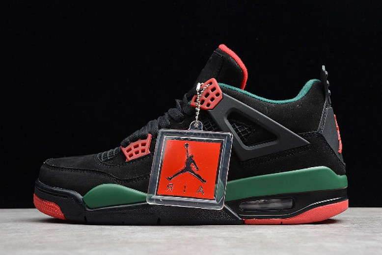 Air Jordan 4 (IV) Retro NRG Black Gorge Green Varsity Red AQ3816-063 Shoes