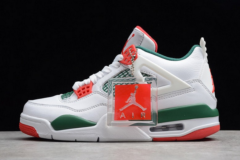 Air Jordan 4 (IV) Retro NRG White Gorge Green Varsity Red AQ3816-163 Shoes