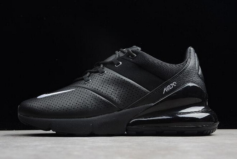 Nike Air Max 270 Premium All Black AO8283-010 Leather Shoes