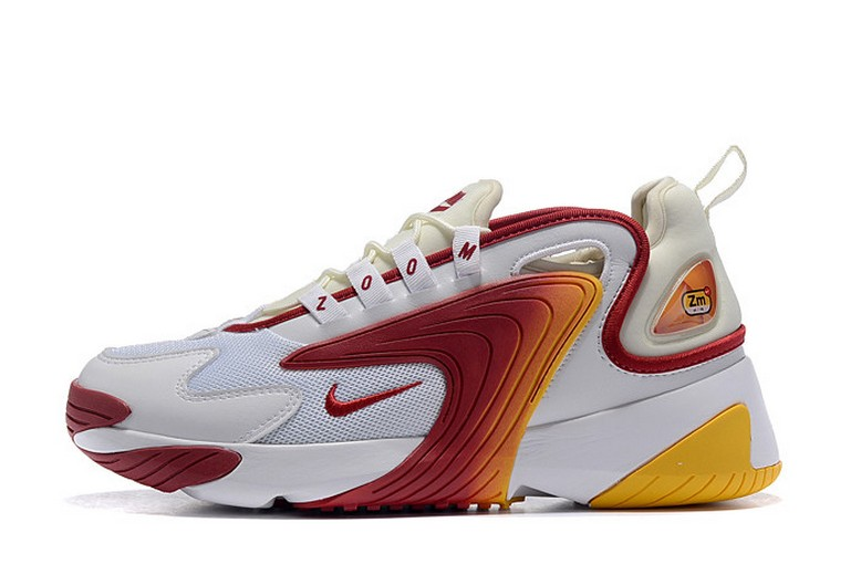 Mens Nike Zoom 2K White Red Yellow Shoes