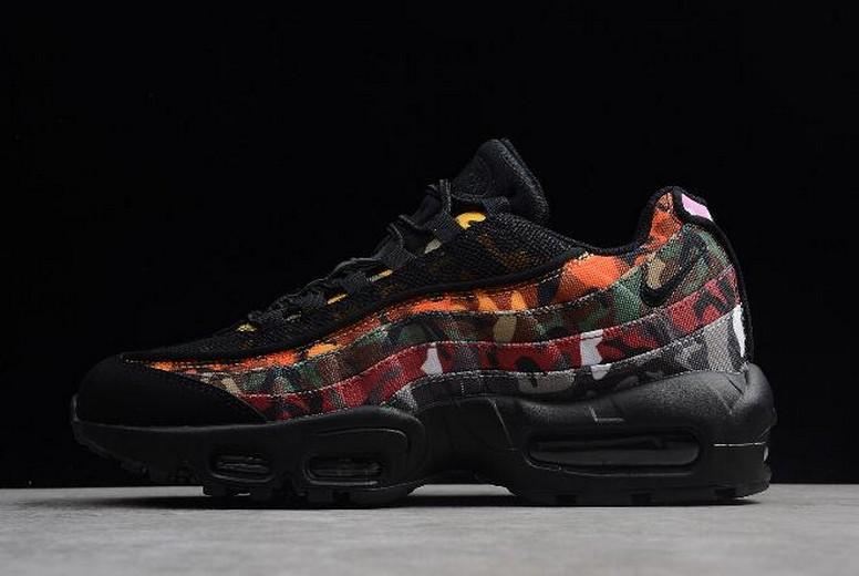 "Nike Air Max 95 ""ERDL Party"" Camo Black Multi-Color AR4473-001 Shoes"