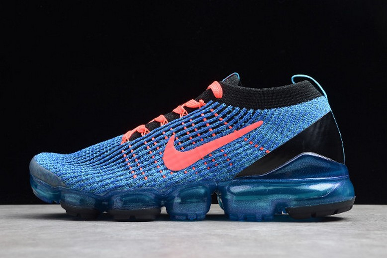 Nike Air Vapormax Flyknt 3.0 Royal Blue Fluorescent Red Black Shoes