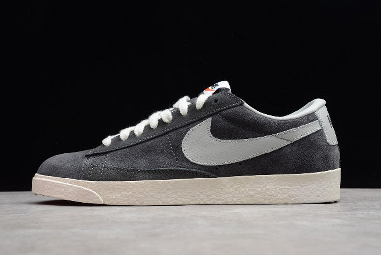 Nike Blazer Low PRM Vintage Suede Night Stadium Strata Grey Sail 538402-001 Shoes