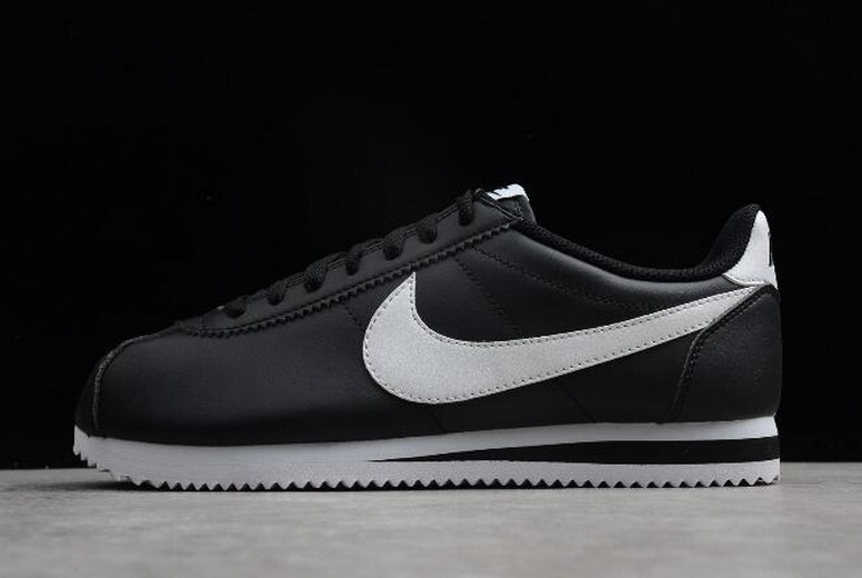 Nike Classic Cortez Black White 807471-010 Leather Shoes