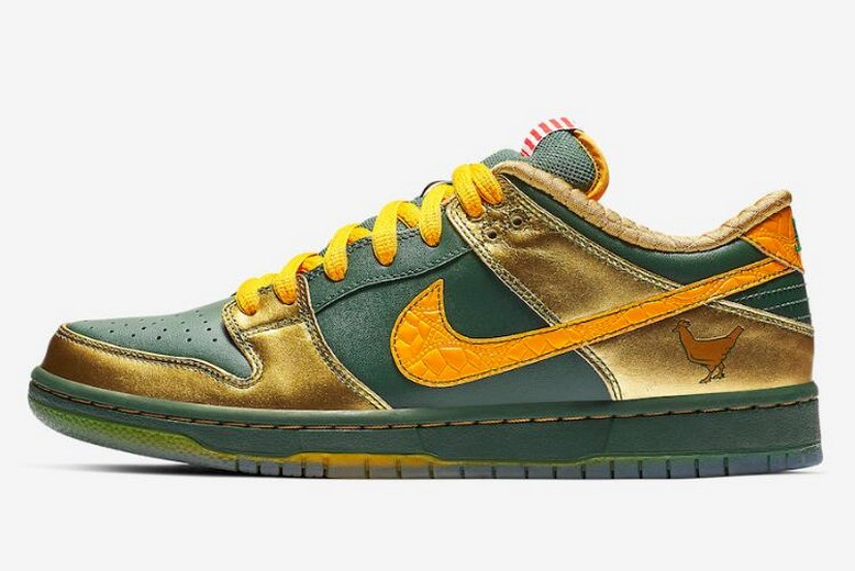 "Nike SB Dunk Pro Low ""Doernbecher"" Fir University Gold Metallic Gold BV8740-377 Shoes"