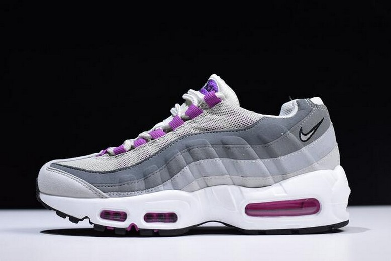 Nike WMNS Air Max 95 Pure Platinum Hyper Violet Wolf Grey 307960-001 Shoes