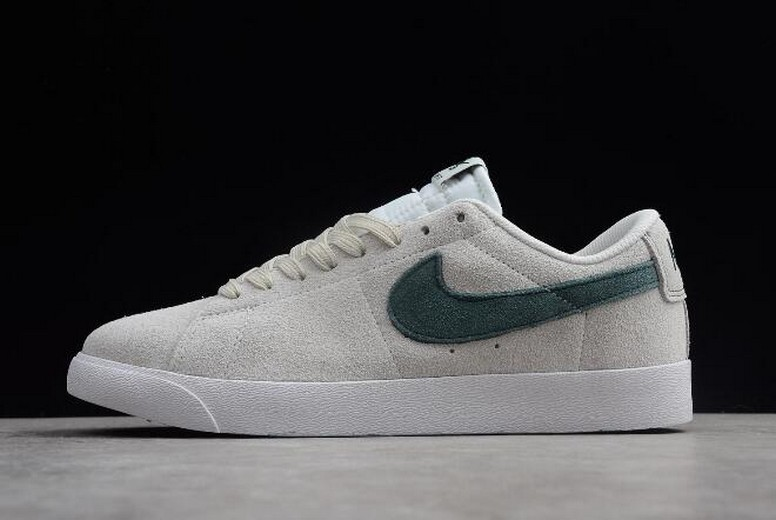 Nike Zoom Blazer Low SB Summit White Deep Jungle 864347-101 Shoes