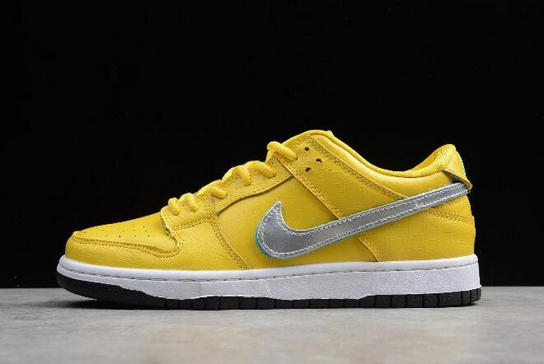 Diamond Supply Co x Nike SB Dunk Low Pro OG QS Yellow BV1310-002 Shoes