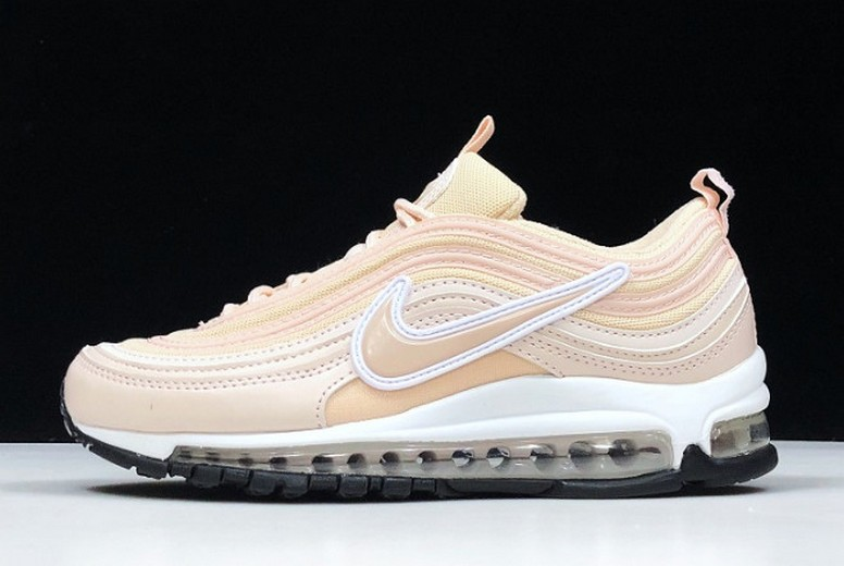 "2019 WMNS Gwang x Nike Air Max 97 ""Barely Rose"" Light Pink White Black Shoes"