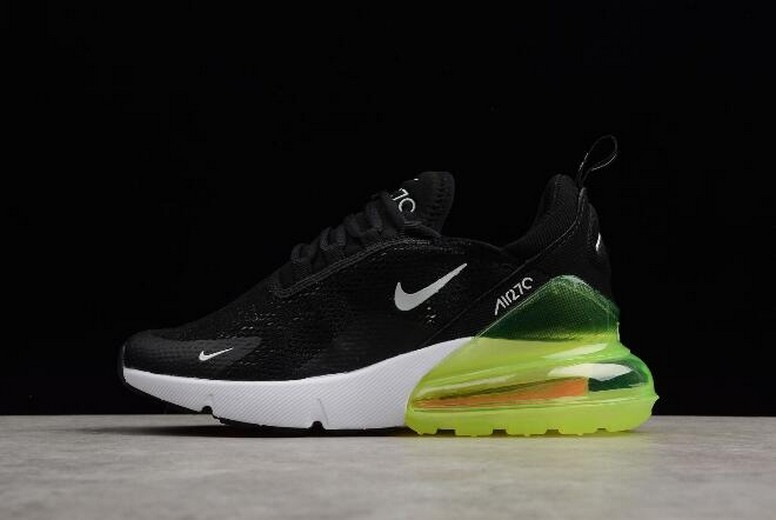 Nike Max 270 Black Volt White AH6789-115 Running Shoes