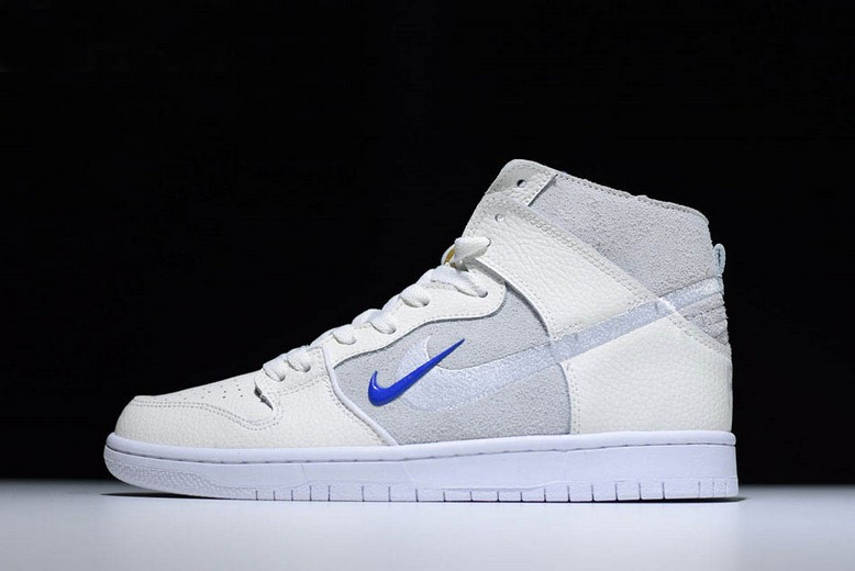 "Soulland x Nike SB Dunk High ""FRI.day part 0.2"" Sail Game Royal White AH9613-141 Shoes"