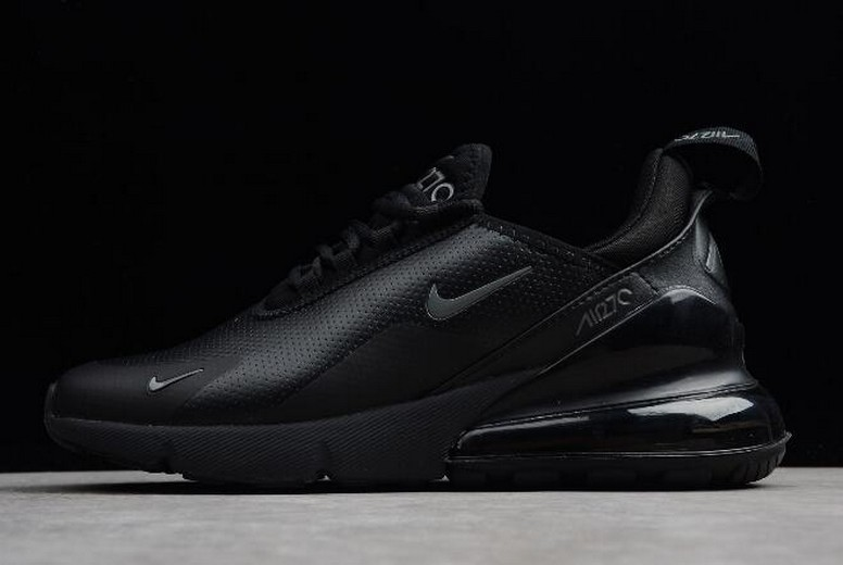 "Mens Nike Air Max 270 Premium ""Triple Black"" Running Shoes"